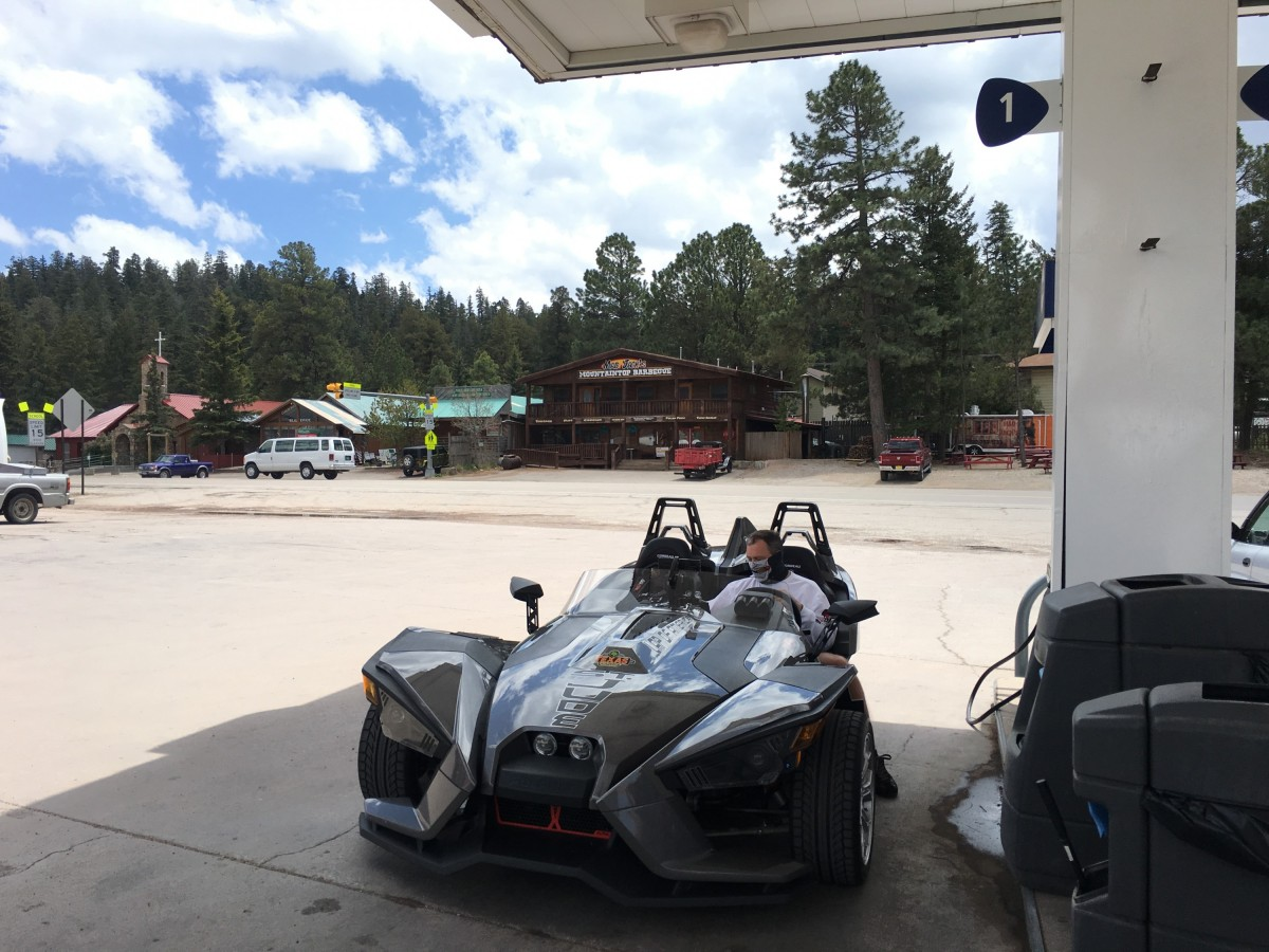 Gassing up in Cloudcroft NM