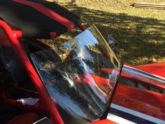 "F4 + 7"" windshield installed"