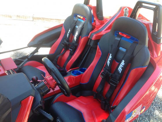 Awesome new custom color PRP seats