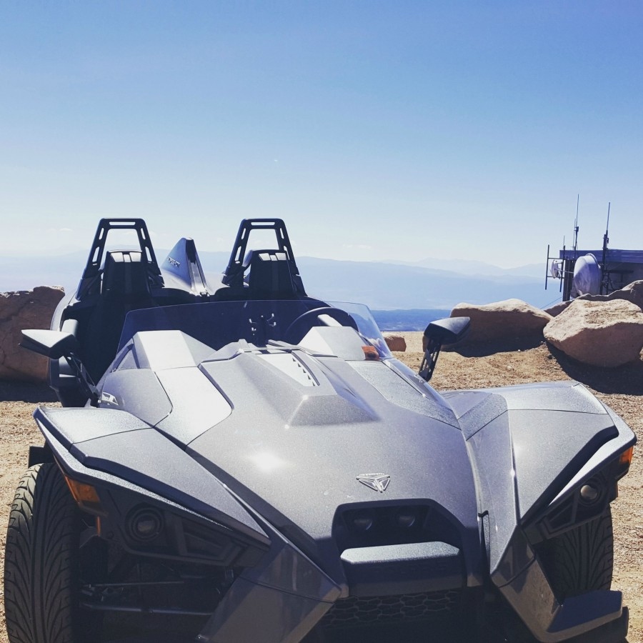 Possibly the highest Slingshot in the nation?  Top of Pikes Peak.