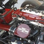 Carbon Fiber red valve cover and CAI