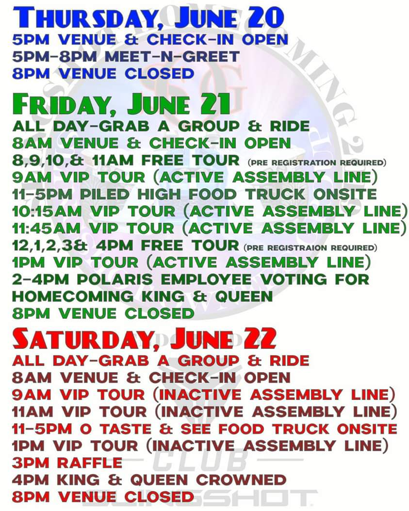 SOG Huntsville Homecoming Itinerary For Events