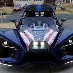LED headlights, upper/lower brows, Old Glory graphic.