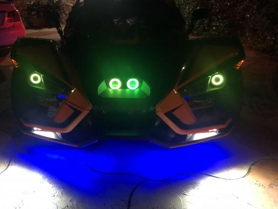 Testing night LEDs