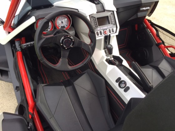 driver's side with TECH Ride system gauge and buttoms